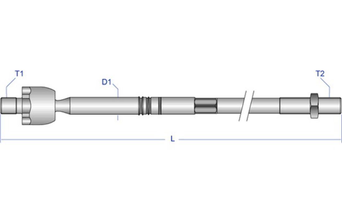 Moog RE-AX-2091 r/ótula axial para barra de acoplamiento