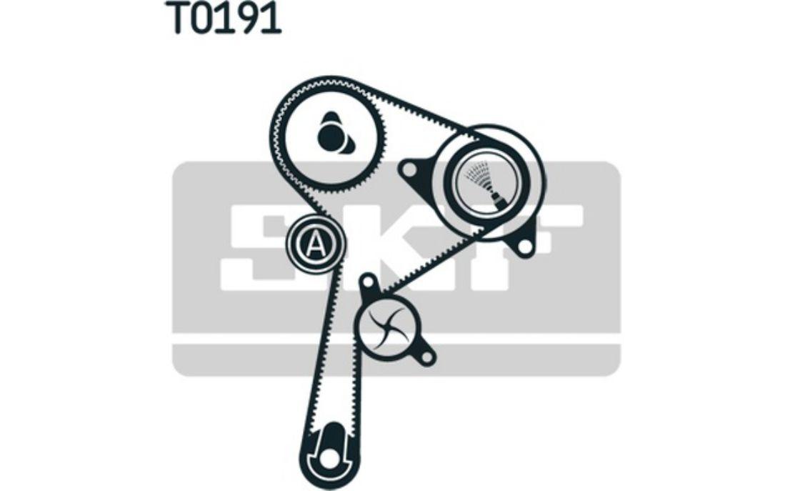 SKF Kit de distribution avec pompe à eau Pour RENAULT CLIO TWINGO VKMC 06134-2