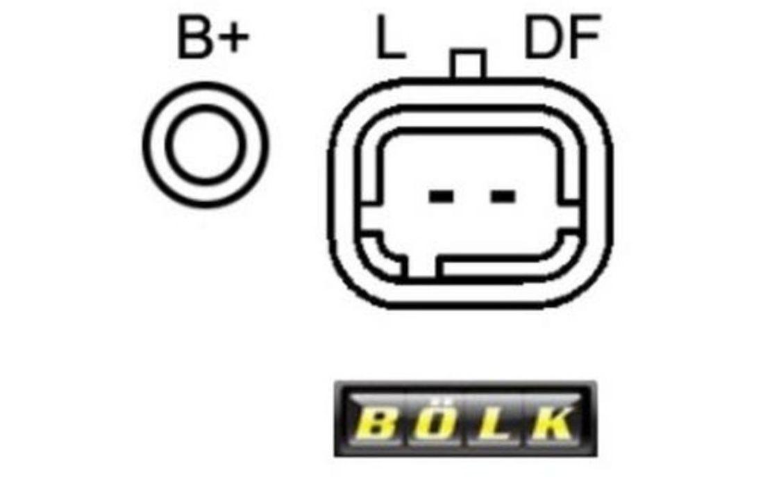 b lk lichtmaschine generator 70a f r peugeot partner 206 206 bol b051126 ebay. Black Bedroom Furniture Sets. Home Design Ideas