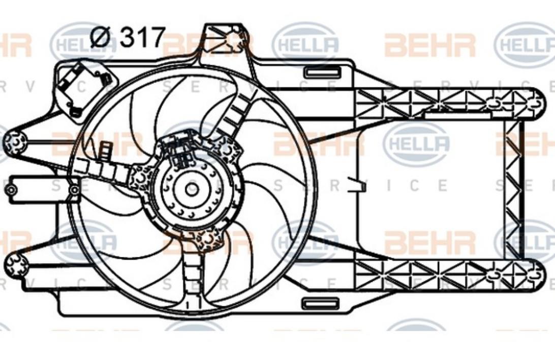 HELLA Radiator Fan 8EW 351 039-511