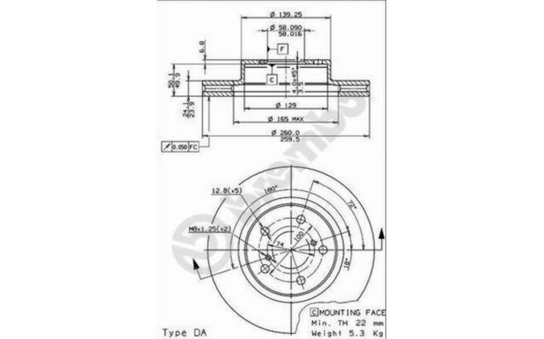 2x NEUF de la marque Ferodo arrière Disque de frein-DDF1580C-garantie de 12 mois!