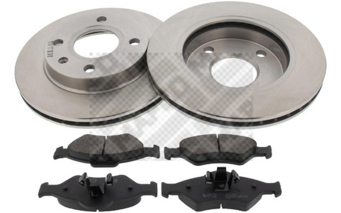 MAPCO Kit disques et plaquettes de frein Avant 47889 pour BMW 1